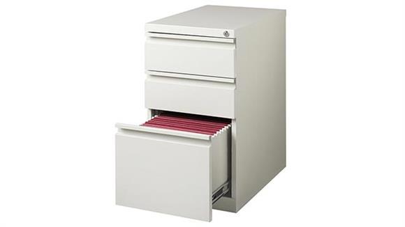 "File Cabinets Vertical Hirsh Industries 3 Drawer Mobile Pedestal - 23""D"