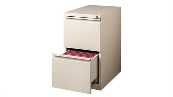 "File Cabinets Vertical Hirsh Industries 2 Drawer Mobile Pedestal - 23""D"