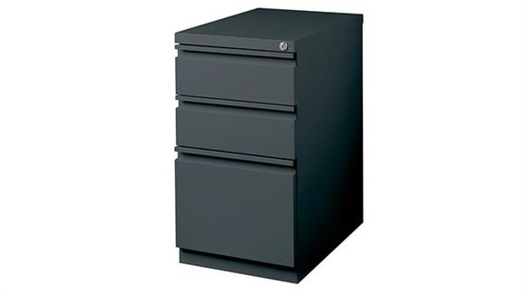 "File Cabinets Vertical Hirsh Industries 3 Drawer Mobile Pedestal - 20""D"