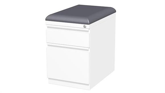 "File Cabinets Vertical Hirsh Industries 2 Drawer Mobile Pedestal with Seat Cushion - 20""D"