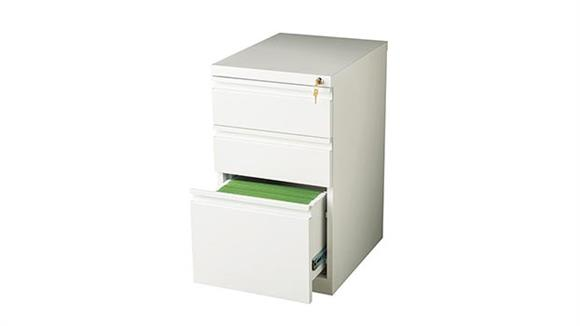 "File Cabinets Vertical Hirsh Industries 3 Drawer Mobile Pedestal - 20""D"