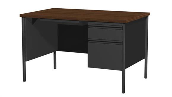 "Executive Desks Hirsh Industries 30"" x 48"" Single Pedestal Desk"