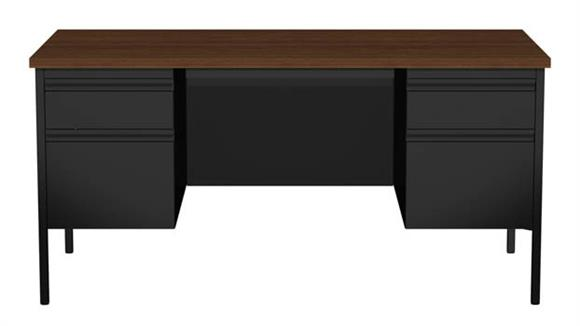 "Executive Desks Hirsh Industries 30"" X 60"" Double Pedestal Desk"