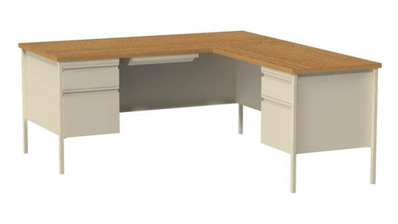 "Corner Desks Hirsh Industries 66"" x 72"" Corner Right Return"