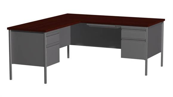 "Corner Desks Hirsh Industries 66"" x 72"" Corner Left Return"