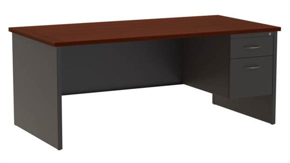 "Executive Desks Hirsh Industries 36""x 72"" Right Hand Single Pedestal Desk"