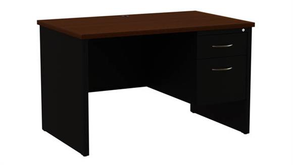 "Executive Desks Hirsh Industries 30""x 48""  Single Pedestal Desk"