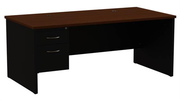 "Executive Desks Hirsh Industries 36""x 72"" Left Hand Single Pedestal Desk"