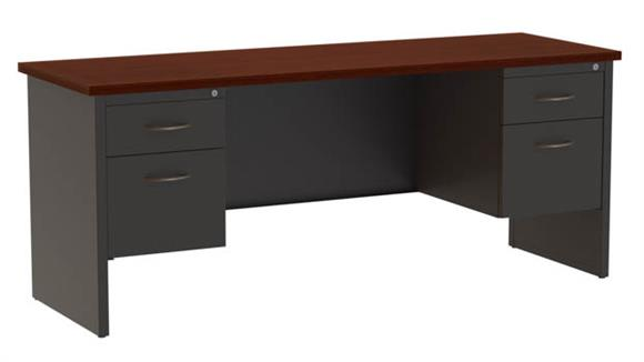 "Office Credenzas Hirsh Industries 72""W Double Pedestal Credenza"
