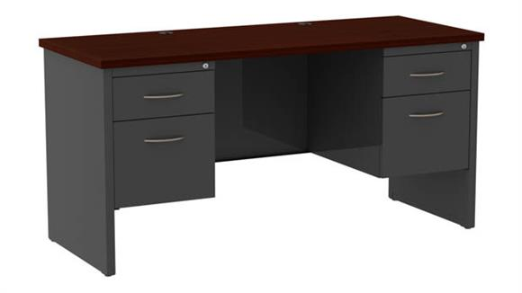 "Office Credenzas Hirsh Industries 60""W Double Pedestal Credenza"