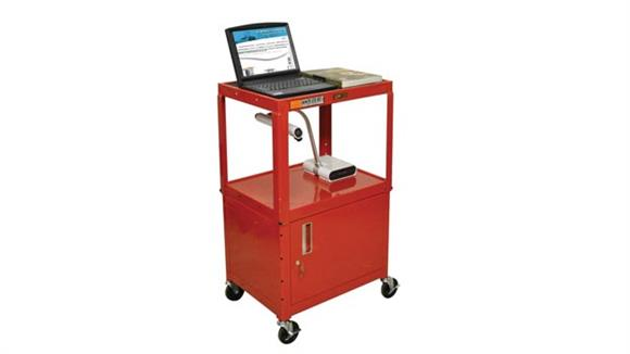 AV Carts H Wilson Colored Steel Utility Cart with Cabinet
