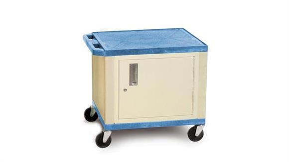 "AV Carts H Wilson 26"" Tuffy Cart with Cabinet"