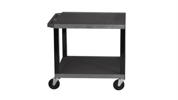 "AV Carts H Wilson 26"" Black Tuffy Cart"