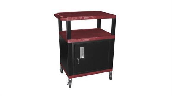 "AV Carts H Wilson 34"" Tuffy Cart with Cabinet"