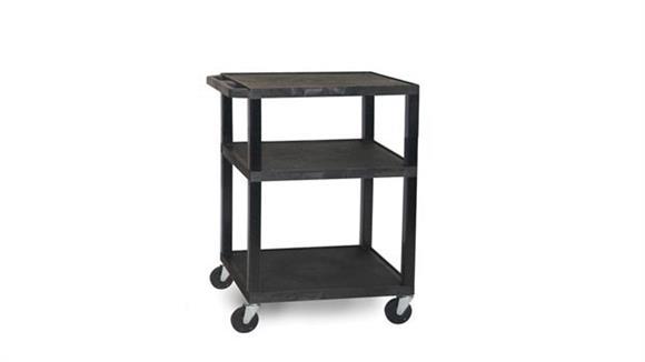 "AV Carts H Wilson 34"" Black Tuffy Cart"