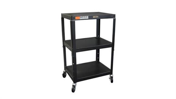 AV Carts H Wilson Black Steel Utility Cart