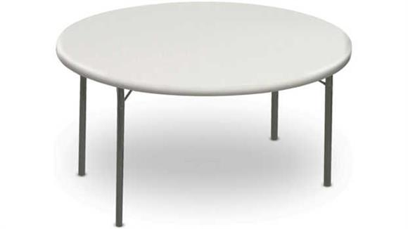 "Folding Tables Iceberg 60"" Round Heavy Duty Folding Table"