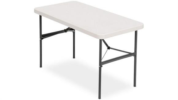 "Folding Tables Iceberg 48"" x 24"" Heavy Duty Folding Table"