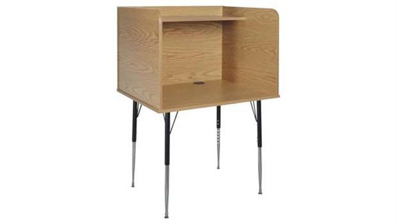 School Desks Ironwood Computer Carrel
