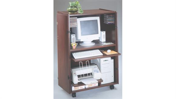 Computer Carts Ironwood Locking Computer Cart