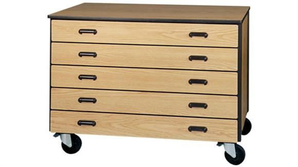 Storage Cabinets Ironwood 5 Drawer Mobile Storage Cart