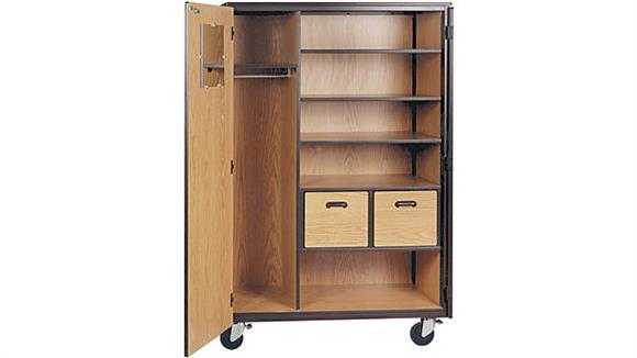 "Storage Cabinets Ironwood 48""W x 22""D Teachers Mobile Storage Cabinet"