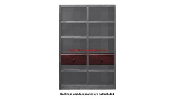"""Bookcases Concepts in Wood 24"""" Adjustable Drop Shelf and Drawer Unit ™"""