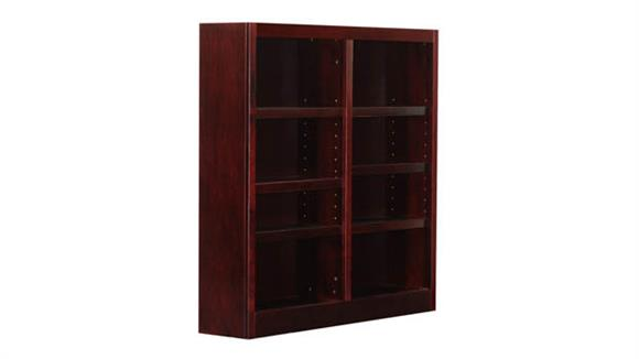 Bookcases Concepts in Wood 8 Shelf Double Wide Bookcase