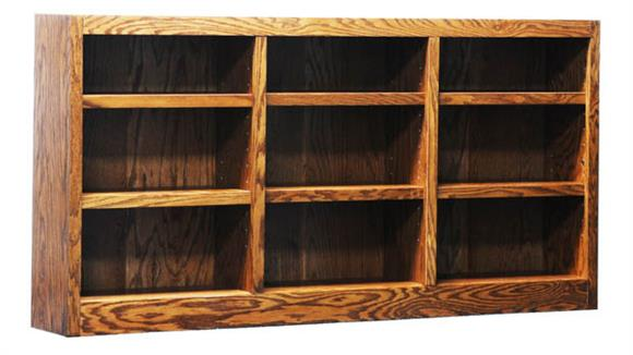 "Bookcases Concepts in Wood 72"" x 36"" Double Wide Bookcase"