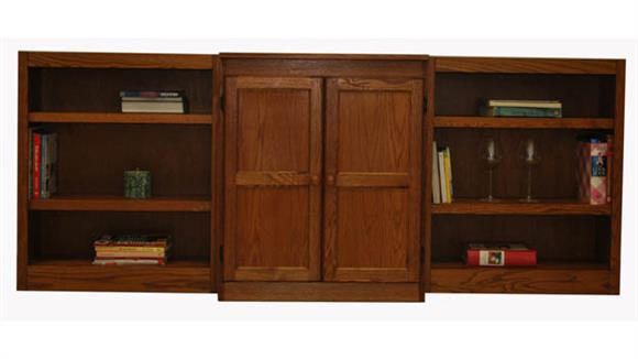 Bookcases Concepts in Wood 3-Piece Wall Bookcase - 8 Shelves