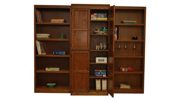 Bookcases Concepts in Wood 3-Piece Wall Bookcase - 15 Shelves