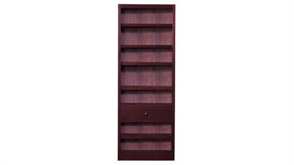Bookcases Concepts in Wood Bookcase with Fix Shelf / Drawer