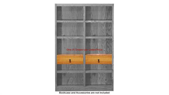 "Bookcases Concepts in Wood 24"" Adjustable Drop Shelf and Drawer Unit ™"