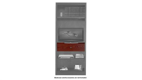 "Bookcases Concepts in Wood 30"" Adjustable Drop Shelf and Drawer Unit ™"