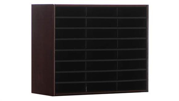 Magazine & Literature Storage Concepts in Wood 24 Compartment Literature Organizer