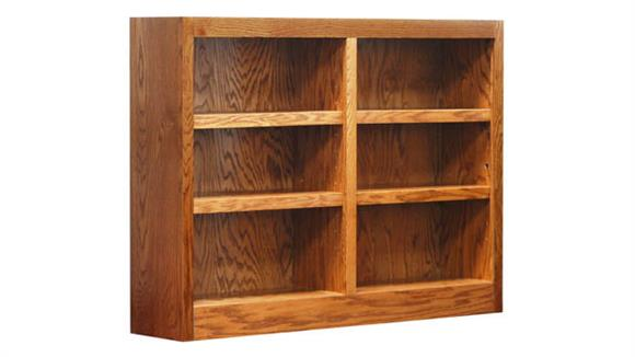 Bookcases Concepts in Wood 6 Shelf Double Wide Bookcase