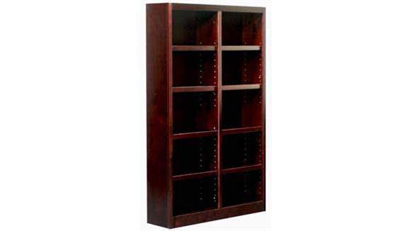 Bookcases Concepts in Wood 10 Shelf Double Wide Bookcase
