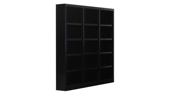 "Bookcases Concepts in Wood 72"" x 72"" Double Wide Bookcase"