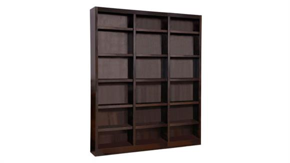 "Bookcases Concepts in Wood 72"" x 84"" Double Wide Bookcase"