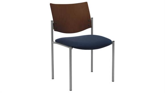 Side & Guest Chairs KFI Seating Side / Guest Chair, Armless with Wood Back
