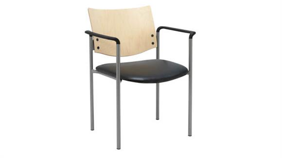 Side & Guest Chairs KFI Seating Side / Guest Chair, with Arms and Wood Back