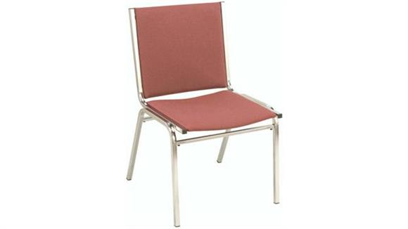 Stacking Chairs KFI Seating Armless Fabric Stack Chair with Chrome Frame