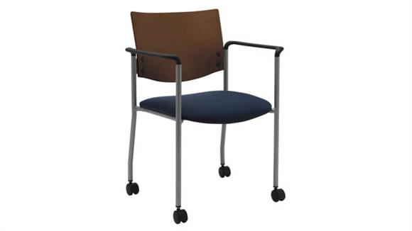 Side & Guest Chairs KFI Seating Side / Guest Chair, with Arms, Wood Back and Casters