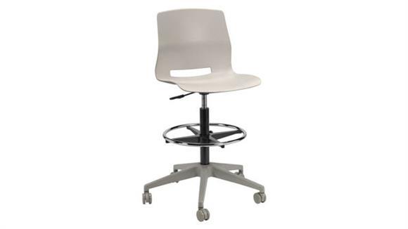 Drafting Stools KFI Seating Rolling Office Drafting Stool