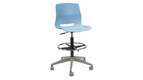 Drafting Stools KFI Seating Rolling Office Drafting Stool