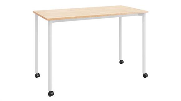 """Computer Desks KFI Seating 24""""D x 48""""W Office Desk with Casters"""