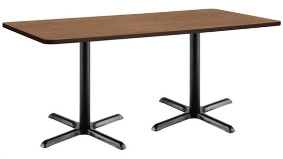 """Cafeteria Tables KFI Seating 30"""" x 72"""" Breakroom Table, Counter Height, X-Base"""