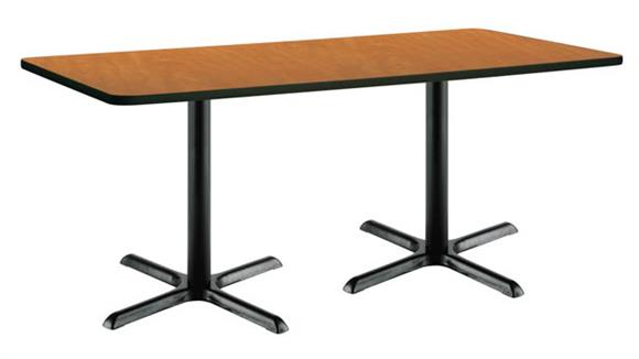 """Cafeteria Tables KFI Seating 30"""" x 72"""" Pedestal Table"""