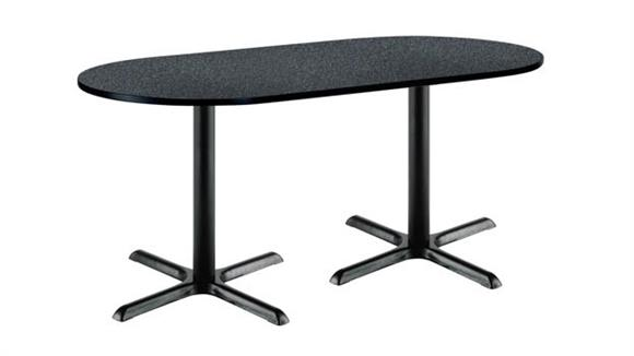 """Conference Tables KFI Seating 30"""" x 72"""" RaceTrack Pedestal Table"""