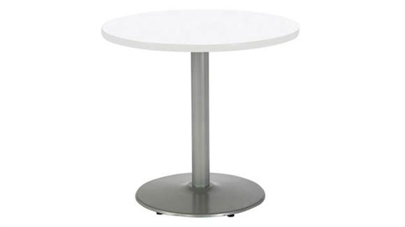 """Cafeteria Tables KFI Seating 30"""" Round Breakroom Table, Counter Height, Round Base"""